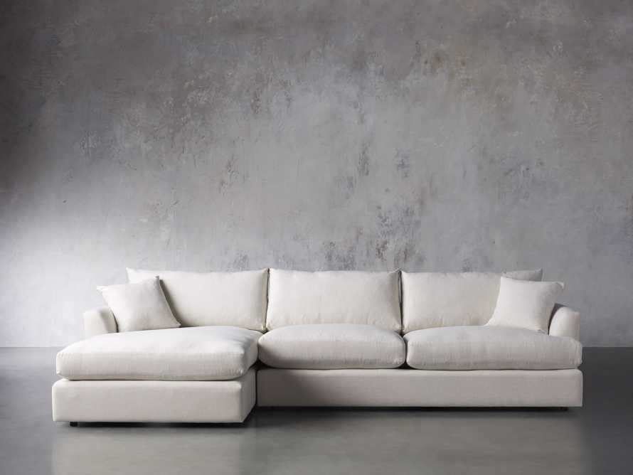 Emory Petite Upholstered Two Piece Sectional, slide 2 of 7