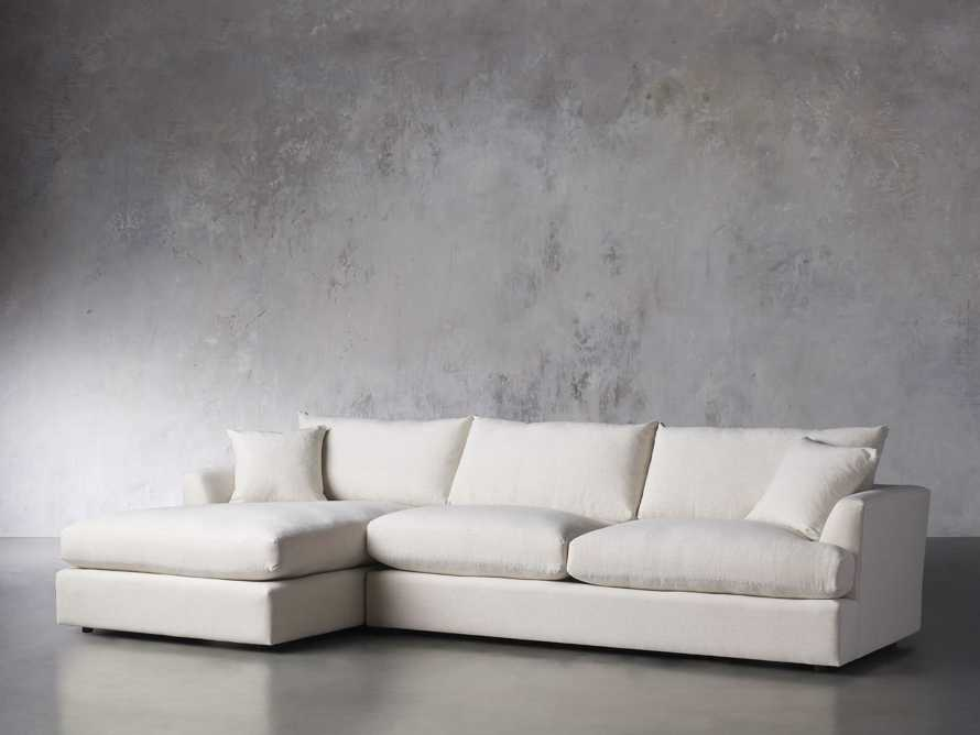 Emory Petite Upholstered Two Piece Sectional, slide 3 of 7