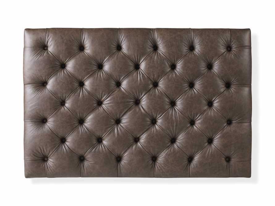 "Fletcher Leather Tufted 47"" Rectangle Ottoman, slide 6 of 7"