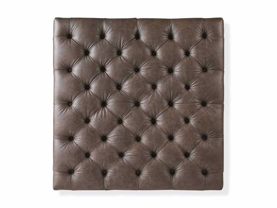 """Fletcher Leather Tufted 39"""" Square Ottoman, slide 5 of 6"""
