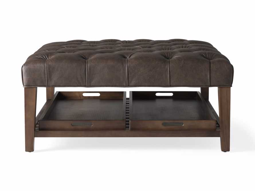 """Fletcher Leather Tufted 39"""" Square Ottoman, slide 6 of 6"""