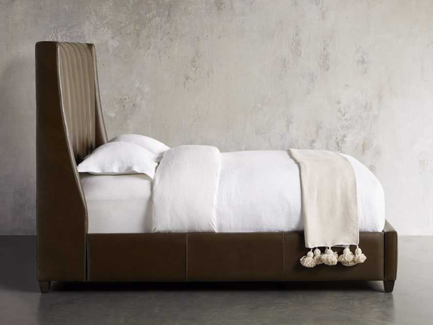 "Hayworth Leather 63"" Queen Bed, slide 4 of 7"