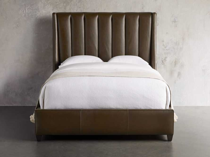 "Hayworth Leather 63"" Queen Bed, slide 3 of 7"