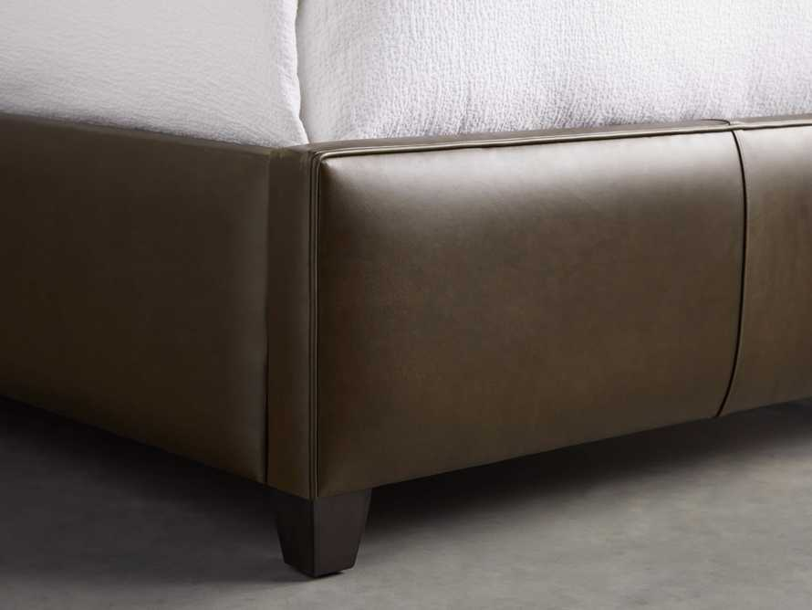 "Hayworth Leather 63"" Queen Bed, slide 6 of 7"