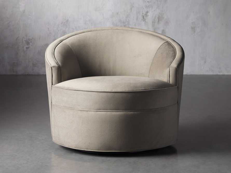 "Harper Upholstered 39"" Swivel Chair, slide 2 of 8"