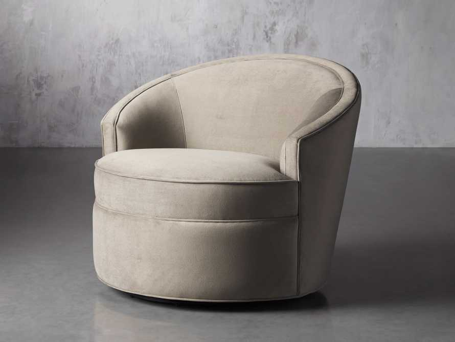 "Harper Upholstered 39"" Swivel Chair, slide 3 of 8"