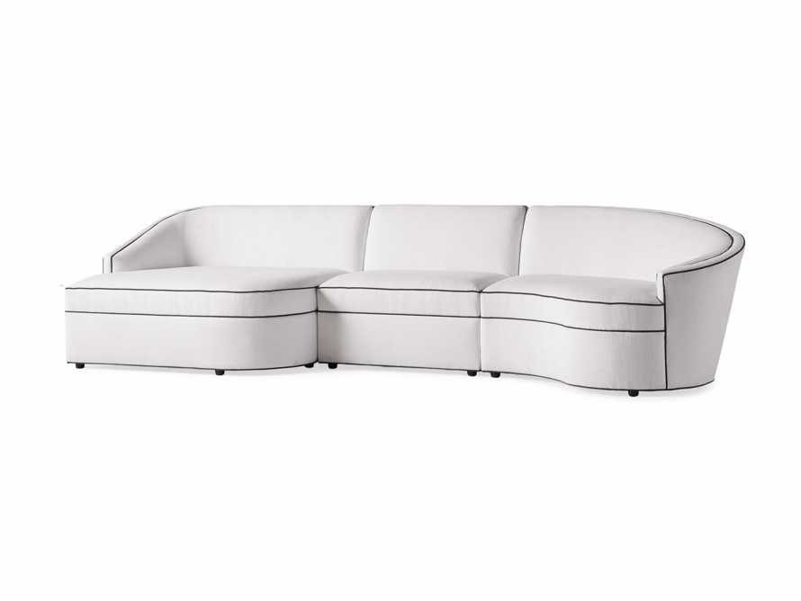 "Harper Outdoor Upholstered 135"" Three Piece Sectional, slide 3 of 5"