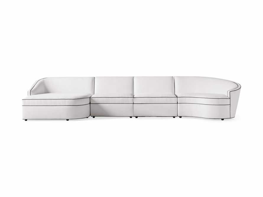 """Harper Outdoor Upholstered 170"""" Four Piece Sectional, slide 2 of 5"""