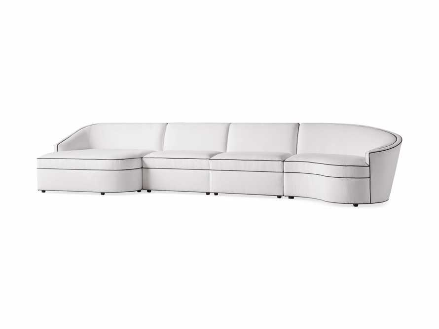 "Harper Outdoor Upholstered 170"" Four Piece Sectional, slide 3 of 5"