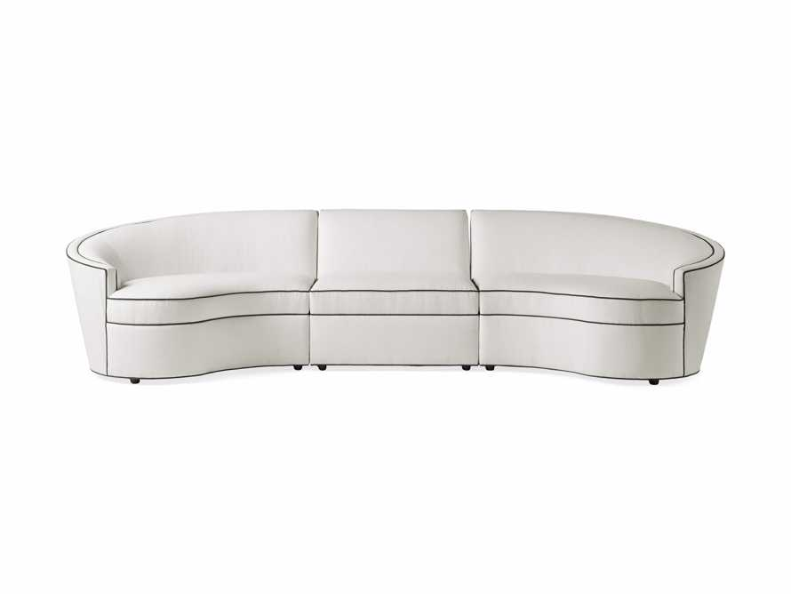 """Harper Outdoor Upholstered 135"""" Three Piece Sectional, slide 3 of 7"""