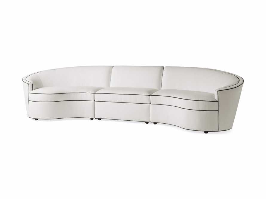 """Harper Outdoor Upholstered 135"""" Three Piece Sectional, slide 4 of 7"""