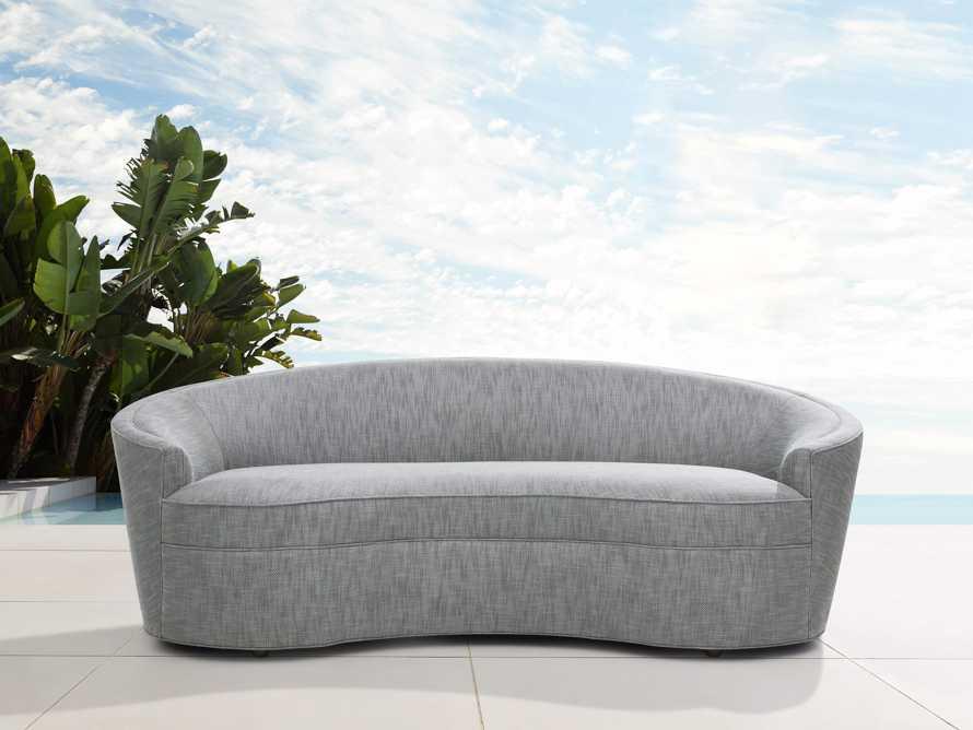 """Harper Outdoor Upholstered 87"""" Sofa, slide 1 of 7"""