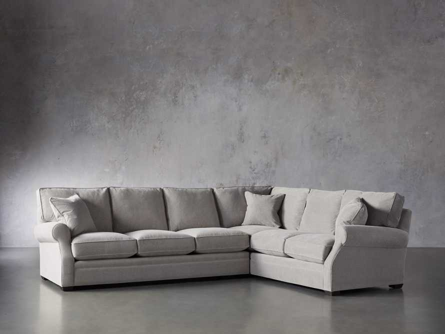 "Landsbury Upholstered 131"" Right Arm Two Piece Corner Sectional, slide 3 of 6"