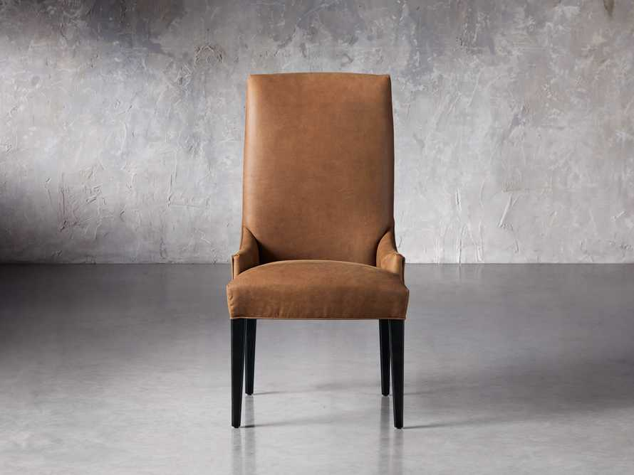 Platinum Leather Dining Side Chair, slide 1 of 7