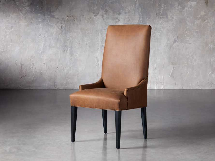 Platinum Leather Dining Side Chair, slide 2 of 7