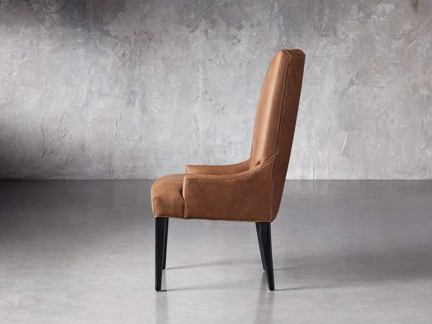 Platinum Leather Dining Side Chair, slide 3 of 7