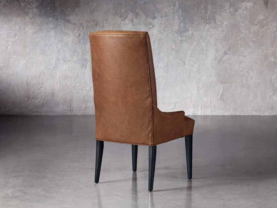 Platinum Leather Dining Side Chair, slide 4 of 7