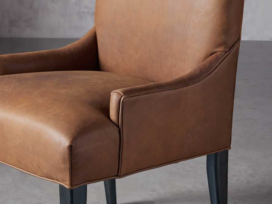 Platinum Leather Dining Side Chair, slide 5 of 7