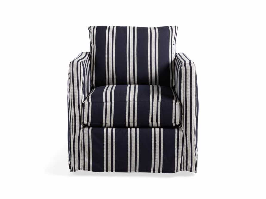 """Spinnaker Outdoor Slipcovered 32"""" Swivel Chair"""