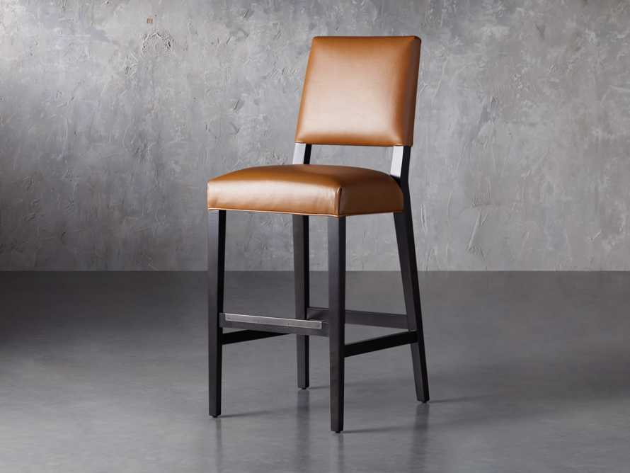 "Teddi Leather 20"" Barstool, slide 3 of 9"