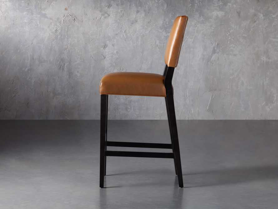 "Teddi Leather 20"" Barstool, slide 4 of 9"