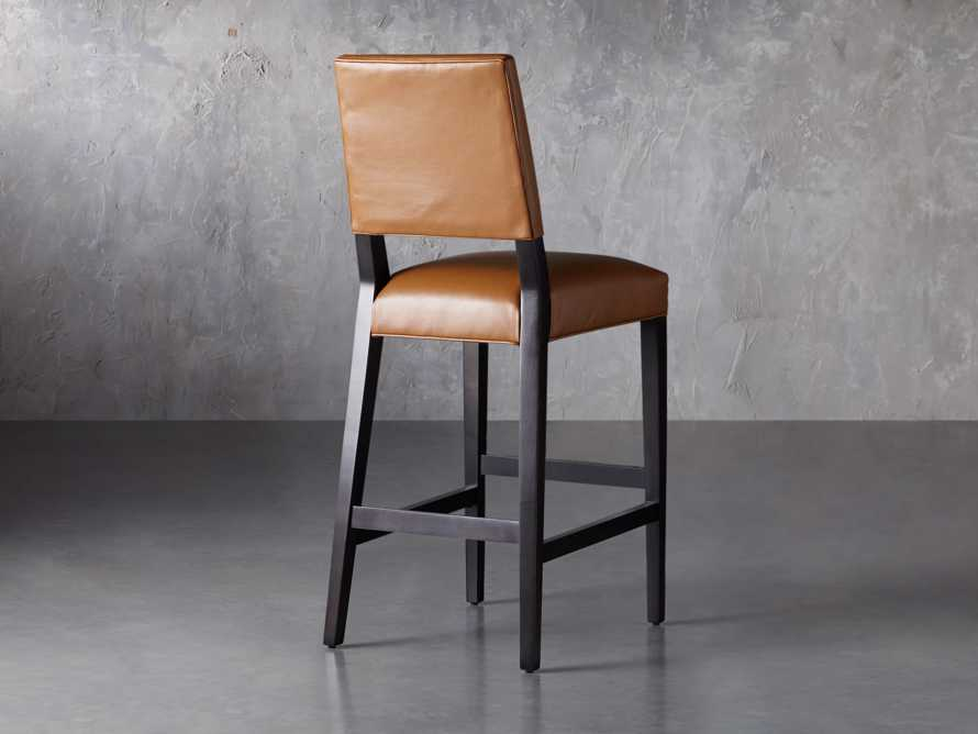 "Teddi Leather 20"" Barstool, slide 5 of 9"