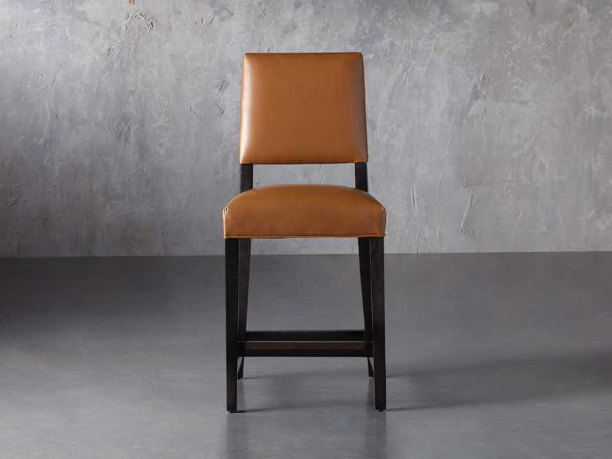 "Teddi Leather 20"" Counter Stool, slide 2 of 9"