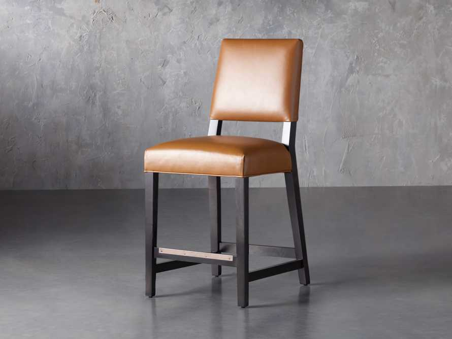 "Teddi Leather 20"" Counter Stool, slide 3 of 9"