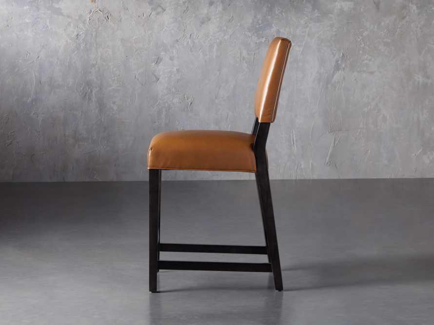 Teddi Leather Counter Stool, slide 4 of 9