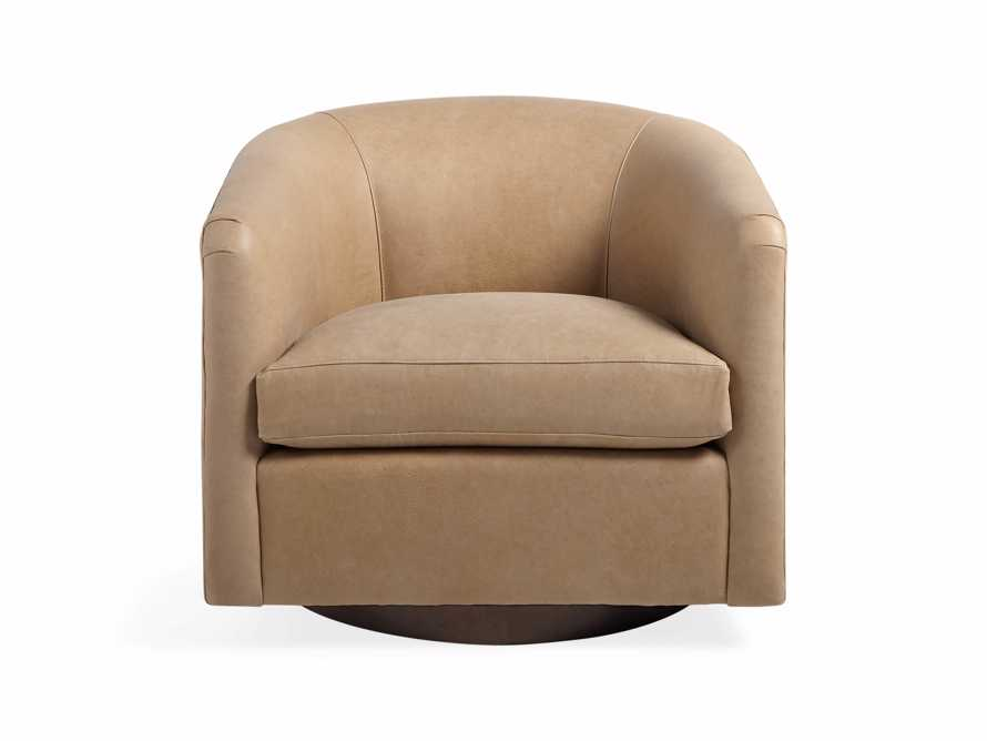 "Bowan 34"" Leather Swivel Chair"