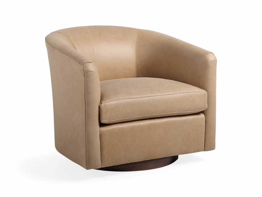 "Bowan 34"" Leather Swivel Chair, slide 2 of 6"