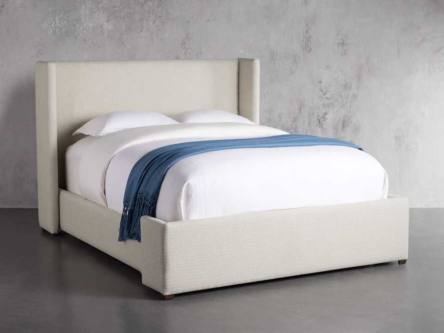 "Wyller Upholstered 52"" Queen Bed in Howell Oatmeal, slide 2 of 10"