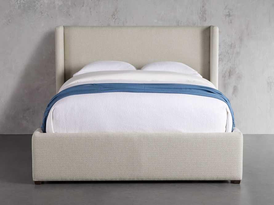 """Wyller Upholstered 52"""" King Bed in Howell Oatmeal, slide 3 of 10"""