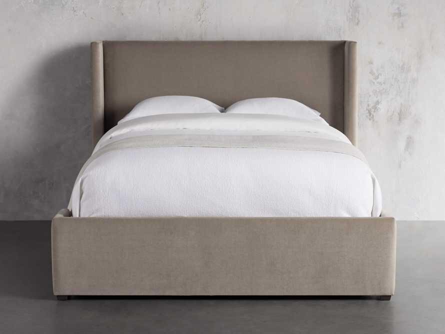 "Wyller Upholstered 52"" King Bed in Veronica Latte, slide 2 of 9"