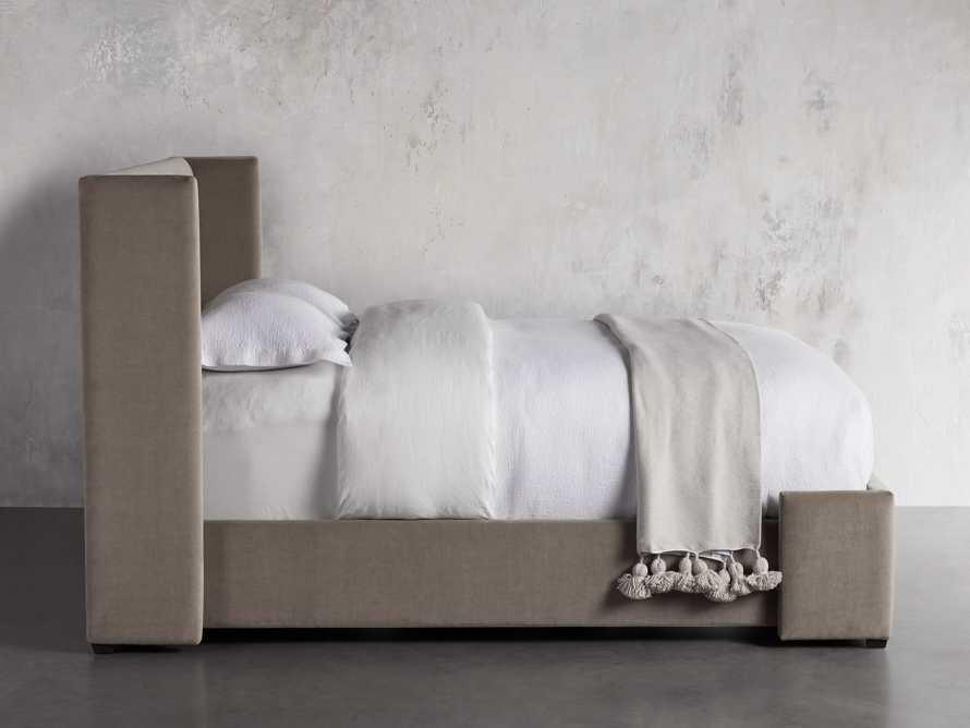 "Wyller Upholstered 52"" King Bed in Veronica Latte, slide 3 of 9"