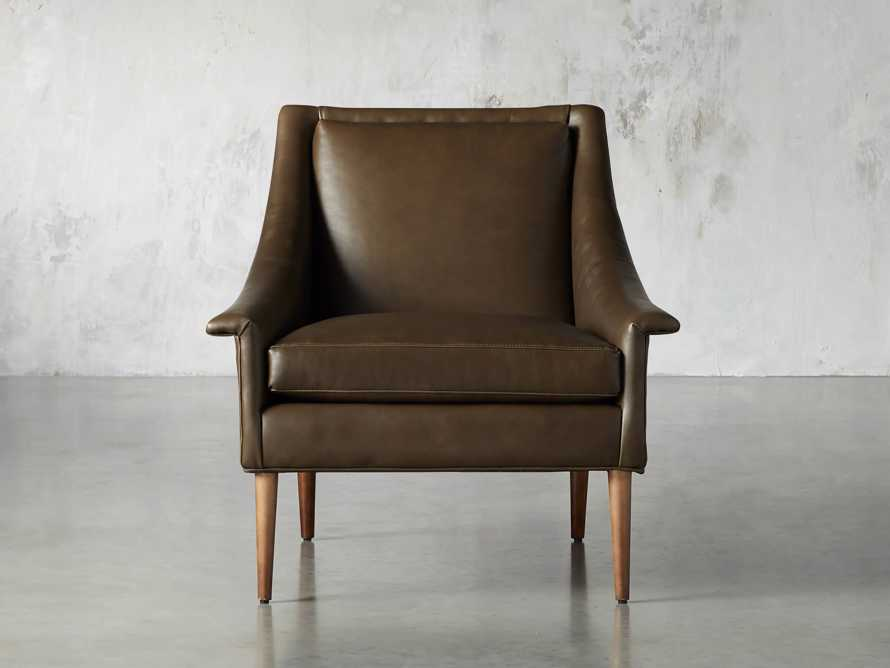 "Zella Leather 32"" Chair, slide 2 of 8"