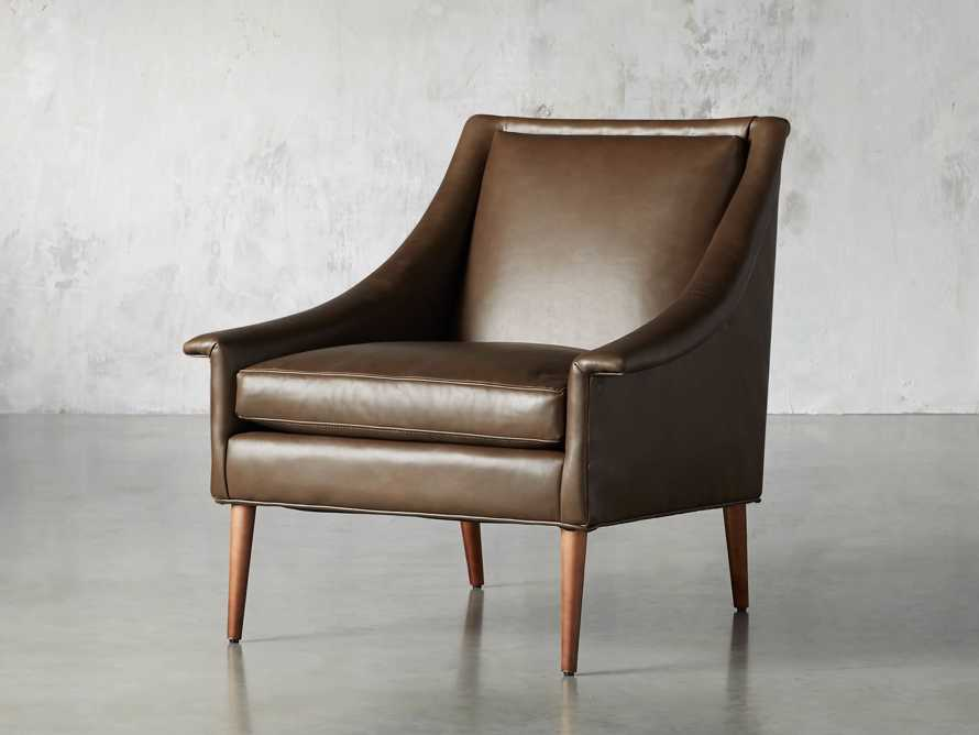 "Zella Leather 32"" Chair, slide 3 of 8"