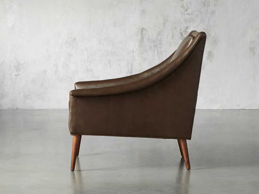 "Zella Leather 32"" Chair, slide 4 of 8"