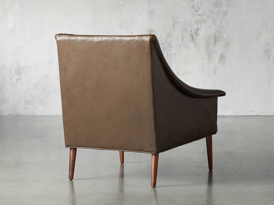 "Zella Leather 32"" Chair, slide 5 of 8"