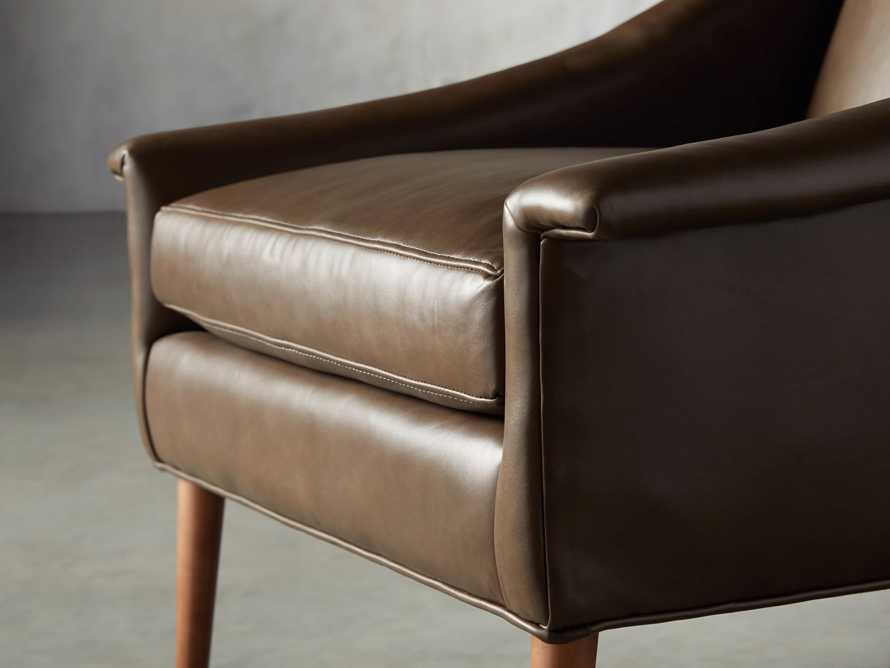 "Zella Leather 32"" Chair, slide 6 of 8"