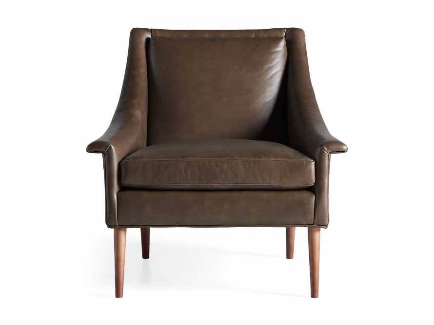 "Zella Leather 32"" Chair, slide 7 of 8"