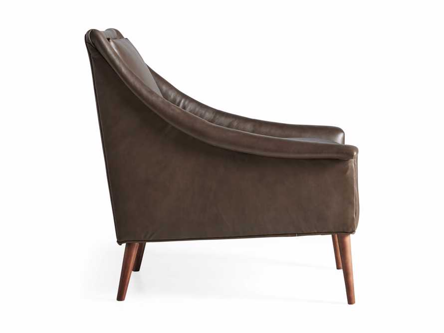 "Zella Leather 32"" Chair, slide 8 of 8"