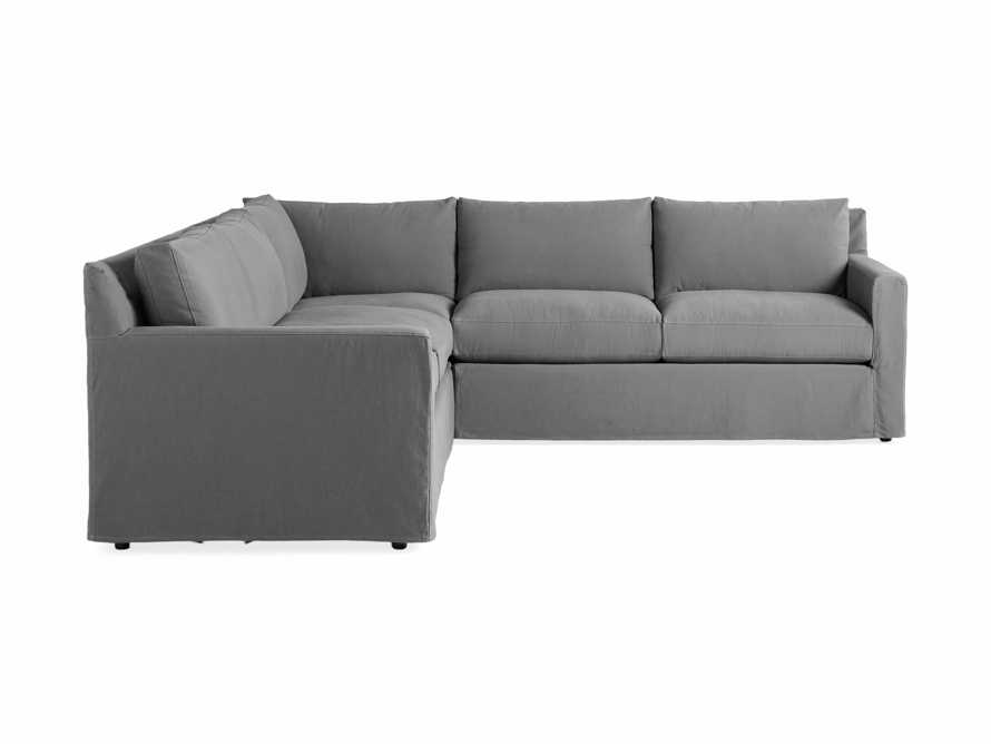 """Monroe Slipcovered 109"""" Three Piece Sectional, slide 6 of 6"""