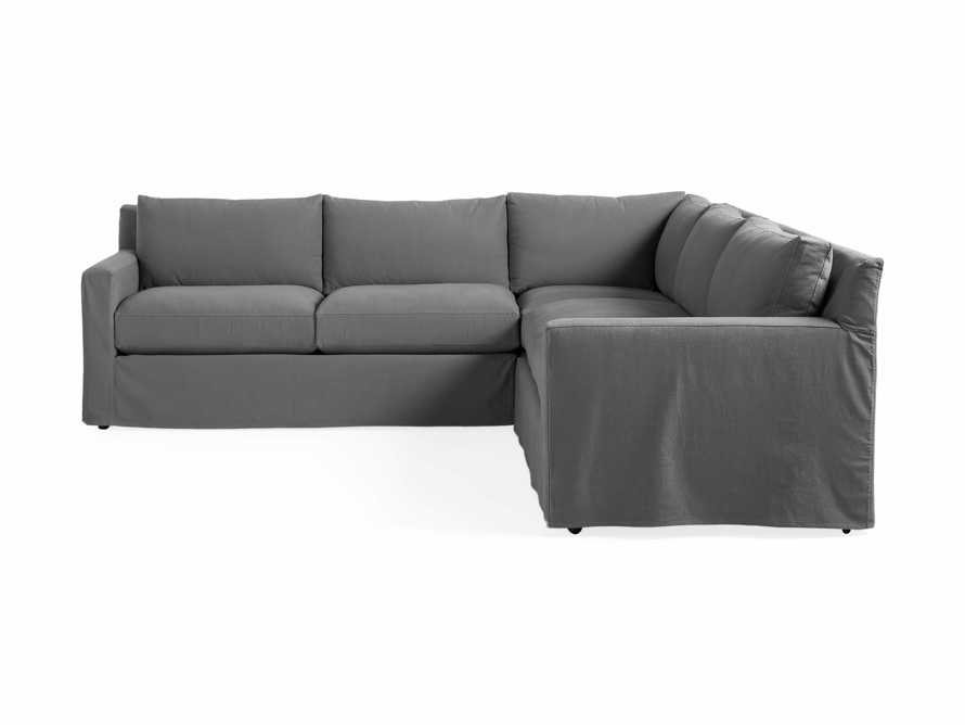 """Monroe Slipcovered 109"""" Three Piece Sectional, slide 5 of 6"""