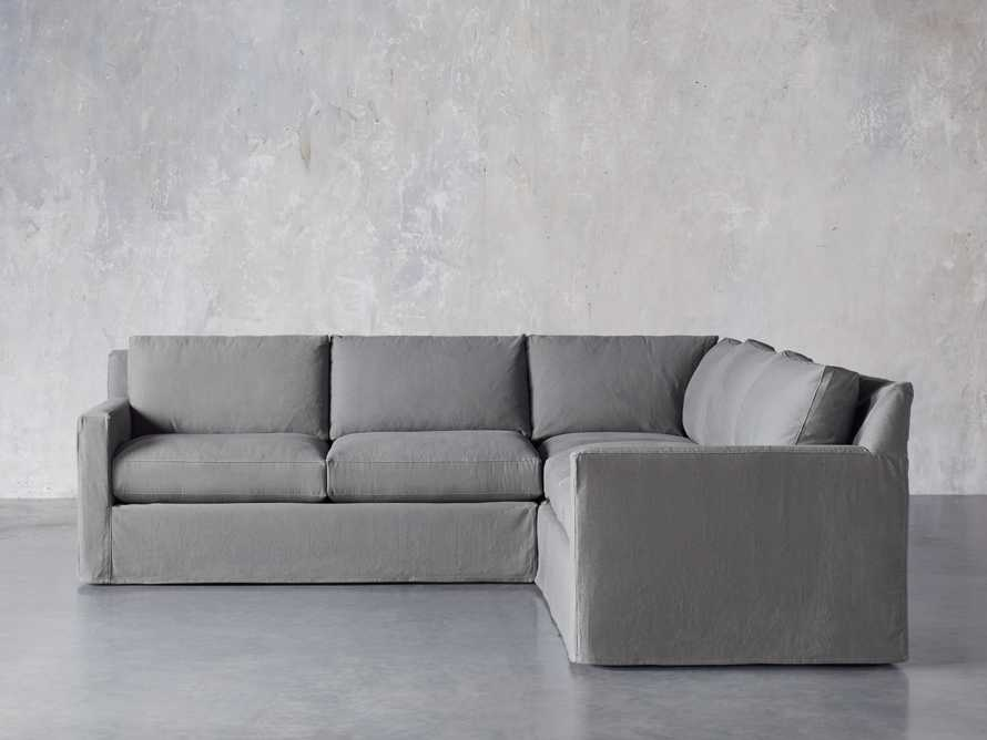 """Monroe Slipcovered 109"""" Three Piece Sectional, slide 2 of 6"""