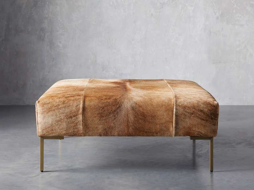 "Tilton Leather 40"" Ottoman in Blonde Brindle Hair on Hide, slide 2 of 5"