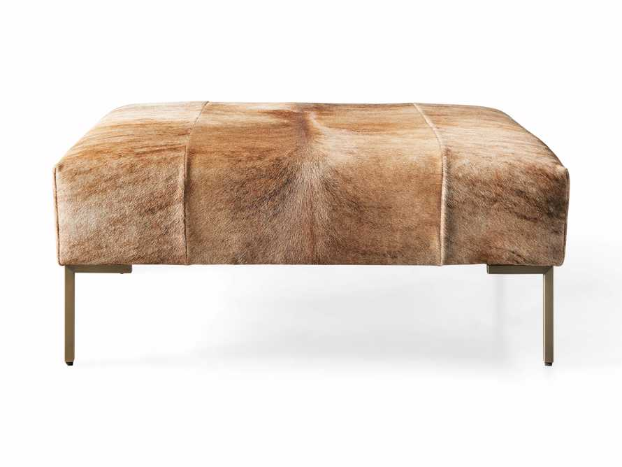 "Tilton Leather 40"" Ottoman in Blonde Brindle Hair on Hide, slide 5 of 5"