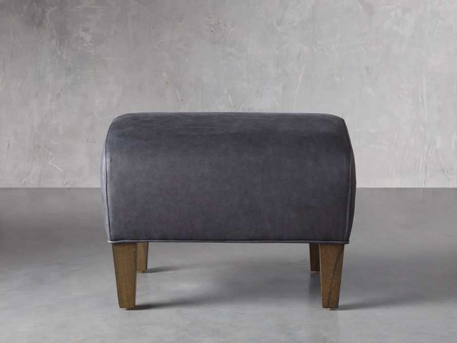 "Lamont Leather 22"" Ottoman, slide 1 of 7"