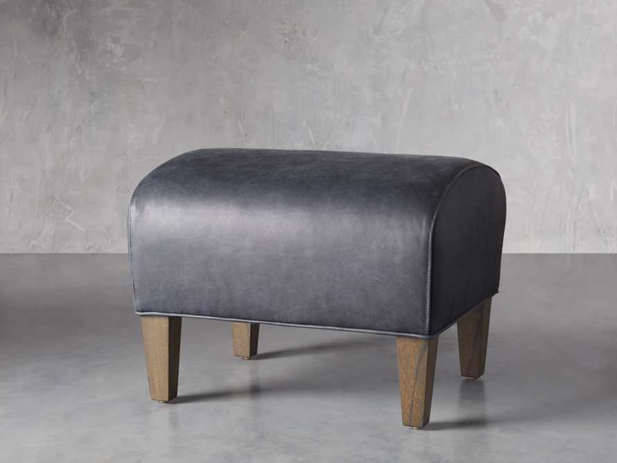 "Lamont Leather 22"" Ottoman, slide 2 of 7"