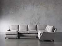 """Paxton Upholstered 138"""" Right Arm Three Piece Sectional"""